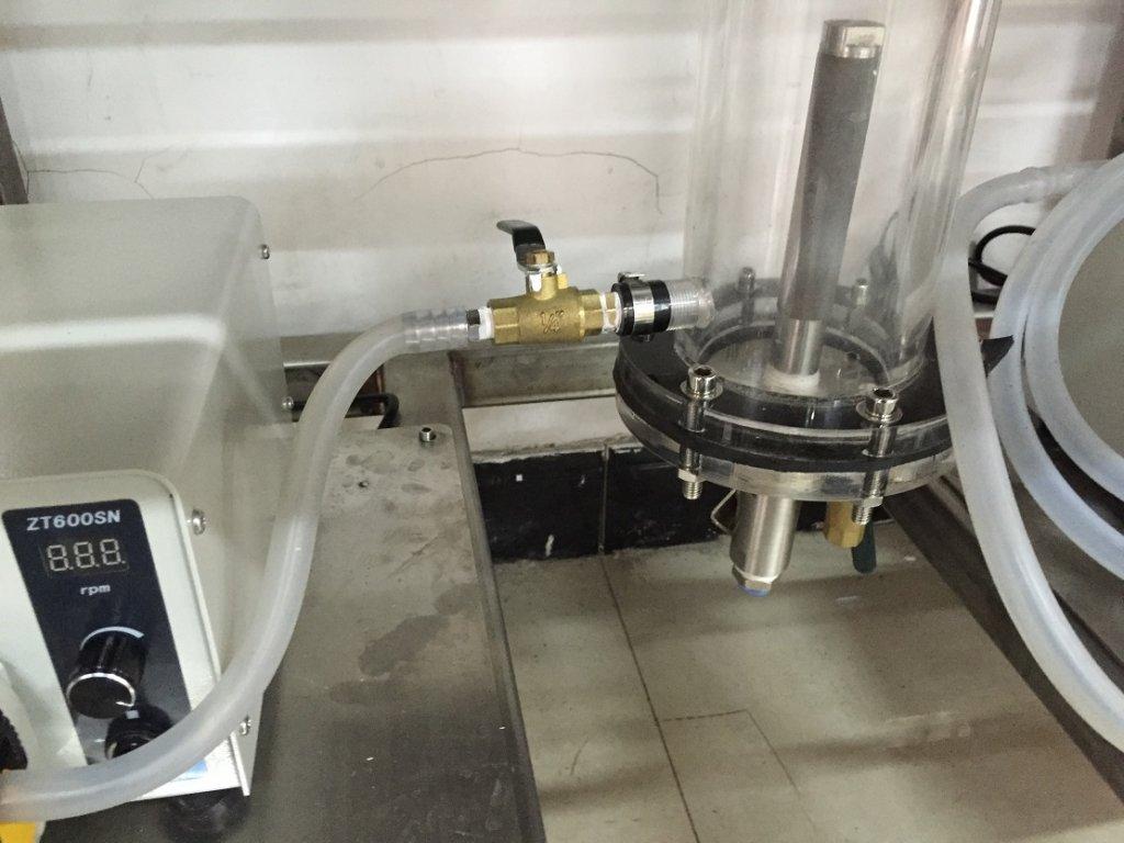 laboratory flotation column microbubble generator