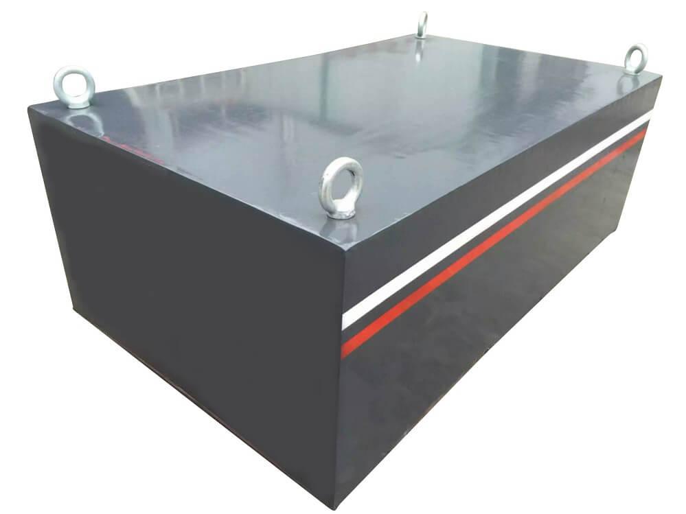 conveyor suspended permanent magnet