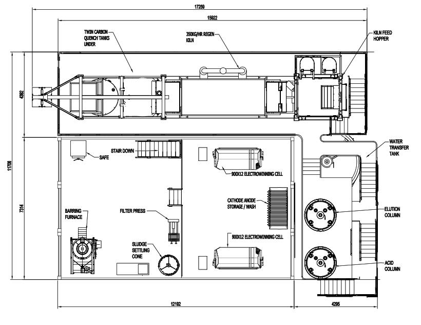 modular elution plan view