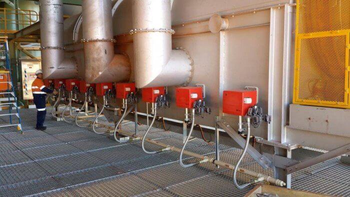 regeneration kiln with fbr burners servicing