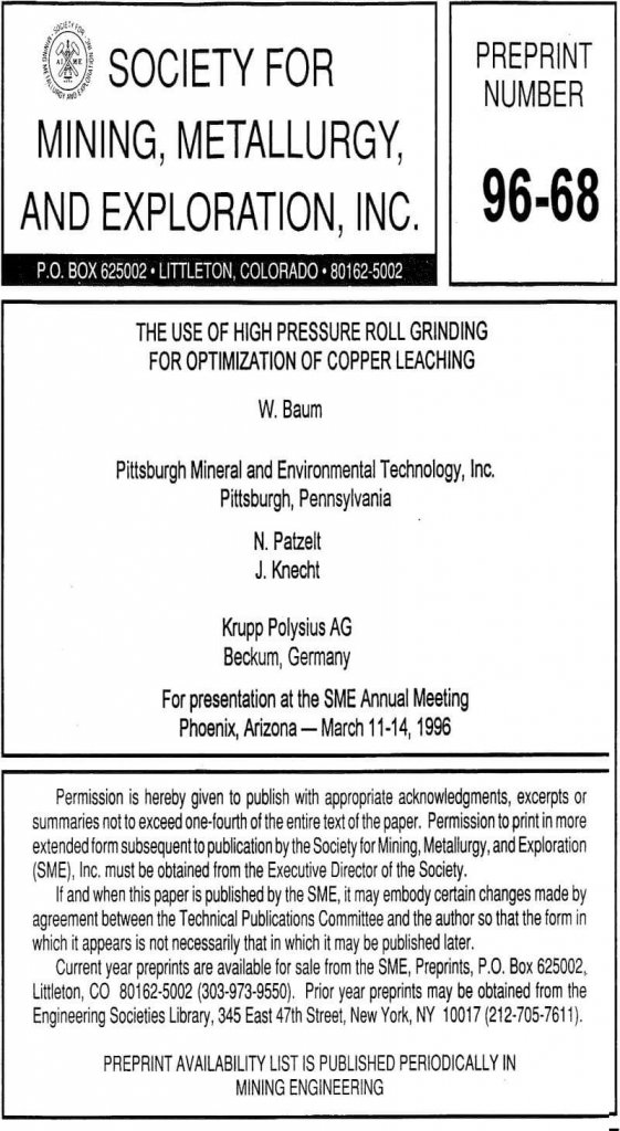 the-use-of-high-pressure-roll-grinding-for-optimization-of-copper-leaching