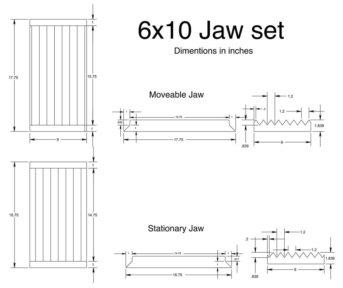 jaw crusher liner design
