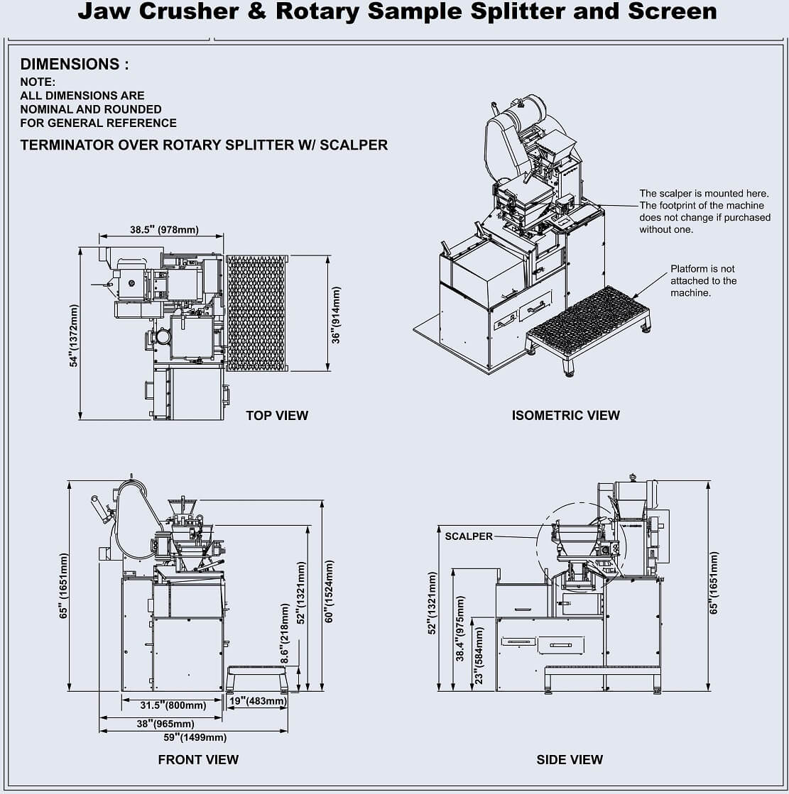 laboratory crushing screening plant