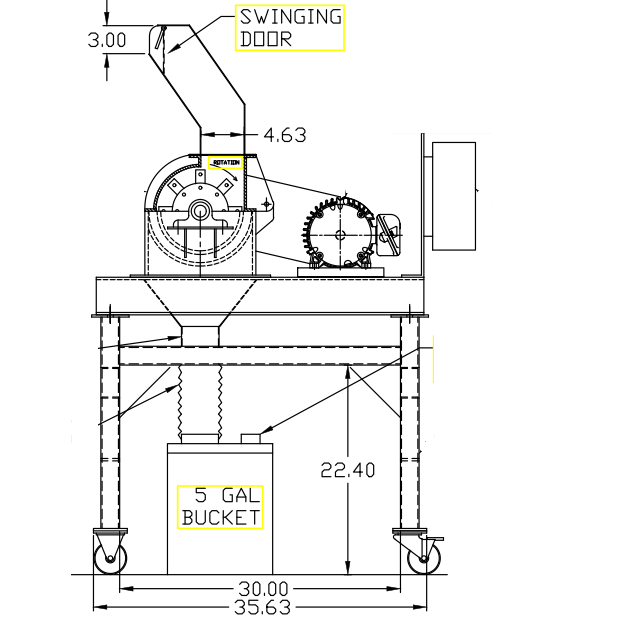 hammer mill design for laboratory machine
