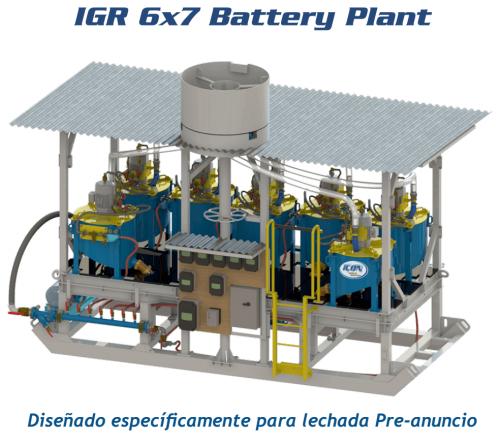 recuperar oro igr 6×7 battery plant