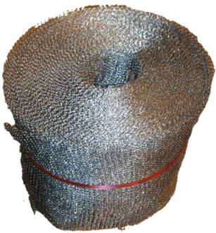 cátodo de malla de lana de acero para electrodeposición