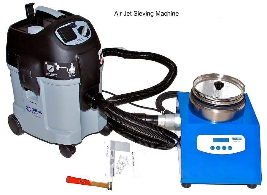 máquina de tamizado con aspiración de aire