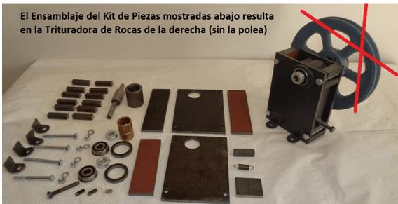 "mini trituradora de rocas 1"" x 2"" crusher kit"