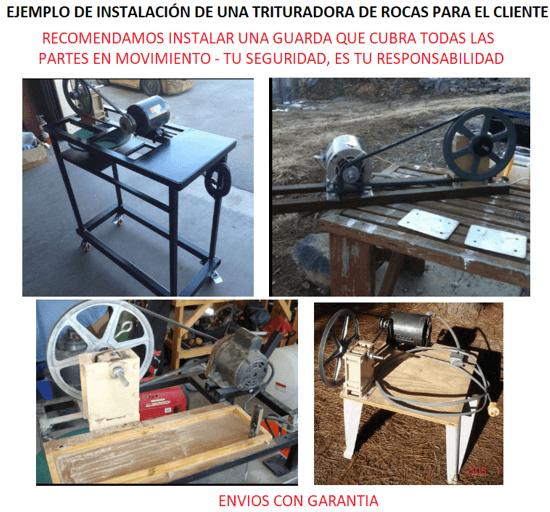 """mini trituradora de rocas 1"""" x 2"""" ejemplo de instalacion"""