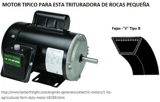 "mini trituradora de rocas 1"" x 2"" motor"