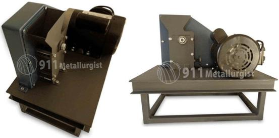 """mini trituradora de rocas 1"""" x 2"""" pulverizador para muestras xrf motor"""