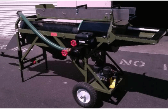 mini trommel para oro motor
