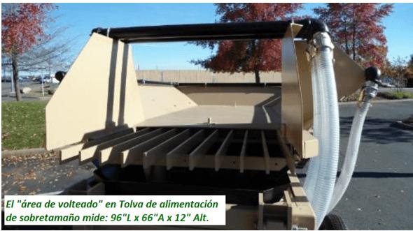 """modelo de trommel portátil para oro """"159 v"""" volteado"""