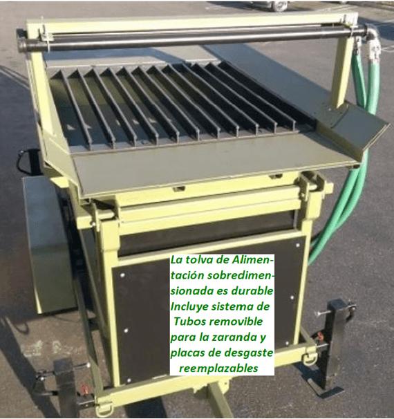 """modelo de trommel portátil para oro """"3610"""" alimentacion"""