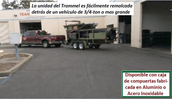 "modelo de trommel portátil para oro ""3610"" disponible"