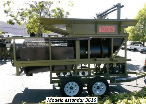 "modelo de trommel portátil para oro ""3610"" modelo estandar 3610"