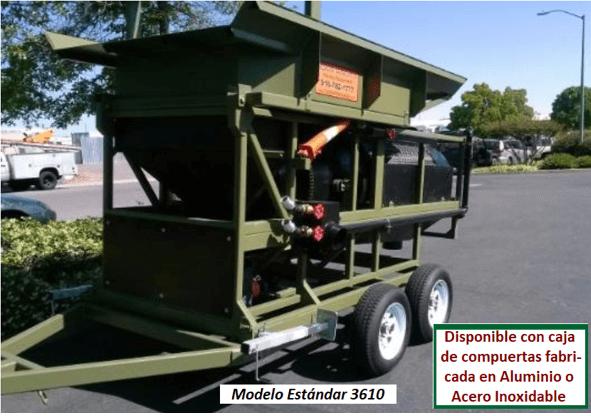 "modelo de trommel portátil para oro ""3610"" modelo estandar"