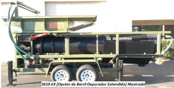 "modelo de trommel portátil para oro ""3610"" opcion de barril"