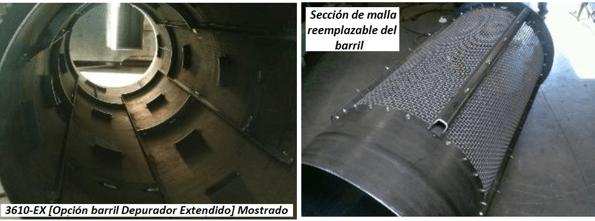 "modelo de trommel portátil para oro ""3610"" seccion"