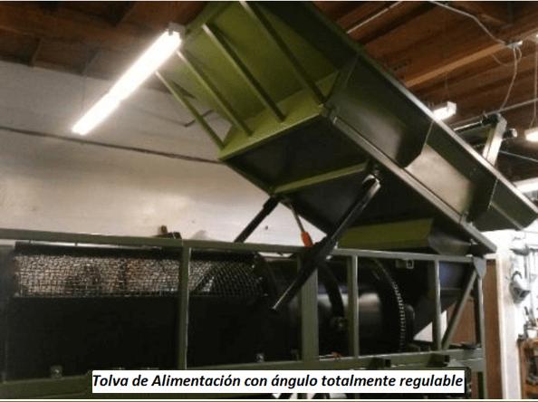 """modelo de trommel portátil para oro """"3610"""" tolva de alimentacion"""