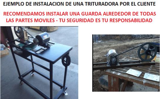 """trituradora de mandíbulas 3"""" x 4"""" ejemplo de installaciones"""