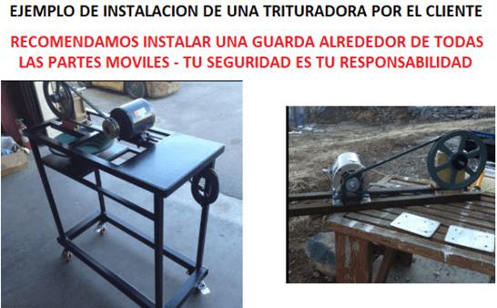 "trituradora de mandíbulas compacta 2 1 4"" x 3"" instalacion"