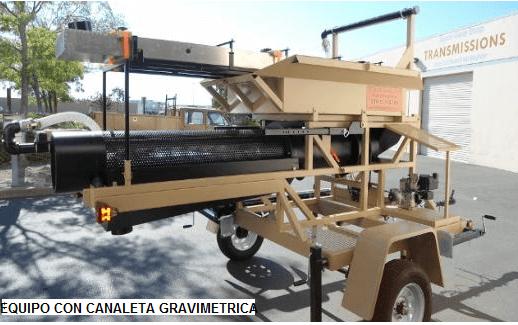 trommel lavador portatil para oro modelo 159 gravimetrica