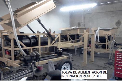 trommel lavador portatil para oro modelo 159 inclinacion