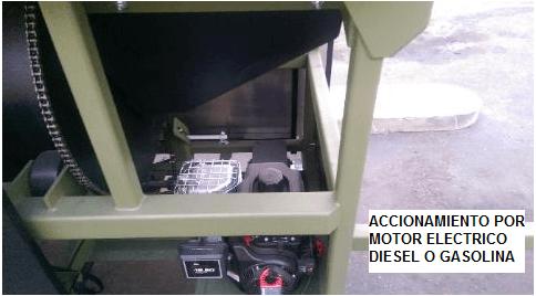 trommel lavador portatil para oro modelo 2410 accionamiento