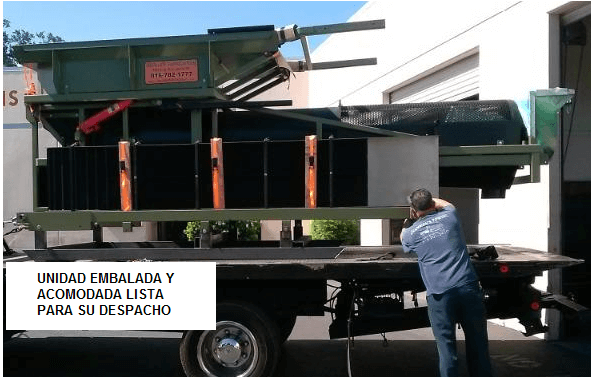 trommel lavador portatil para oro modelo 2410 acomodada