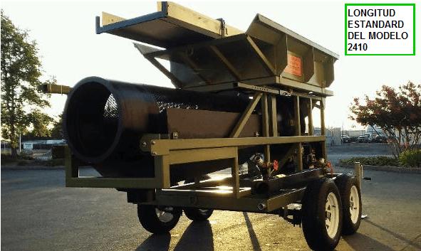 trommel lavador portatil para oro modelo 2410 longitud