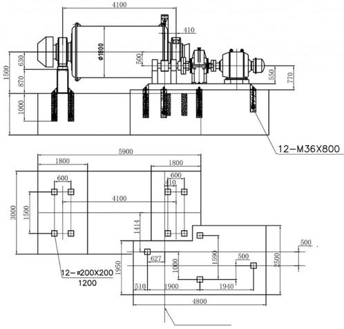 molinos de bolas industriales pequeños 0.5 a 50 tph plan