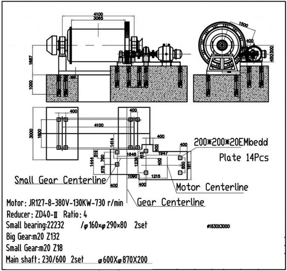 molinos de bolas industriales pequeños 0.5 a 50 tph small gear centerline