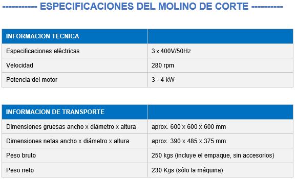 molino de corte grande para desmenuzado industrial 911mpecm1000 especificaciones