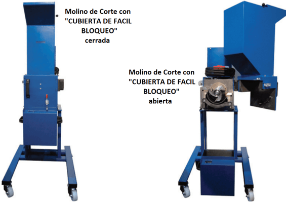 molino de cuchillas rotatorio 911mpecm500 abierta