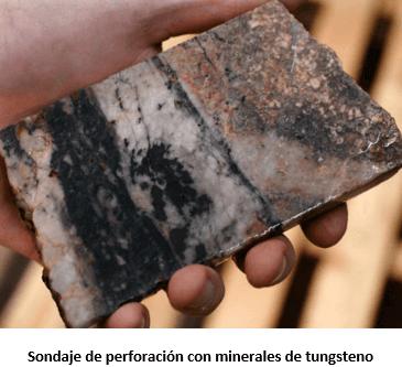 procesamiento de tungsteno perforacion con minerales