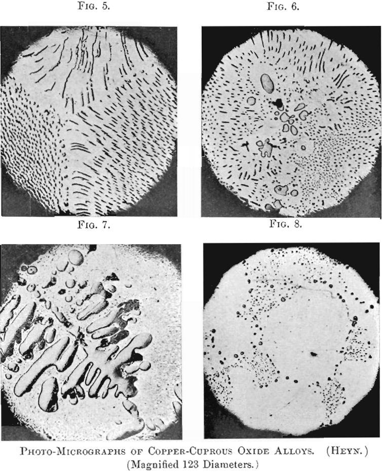 photo micrographs of copper-cuprous oxide of alloys-1