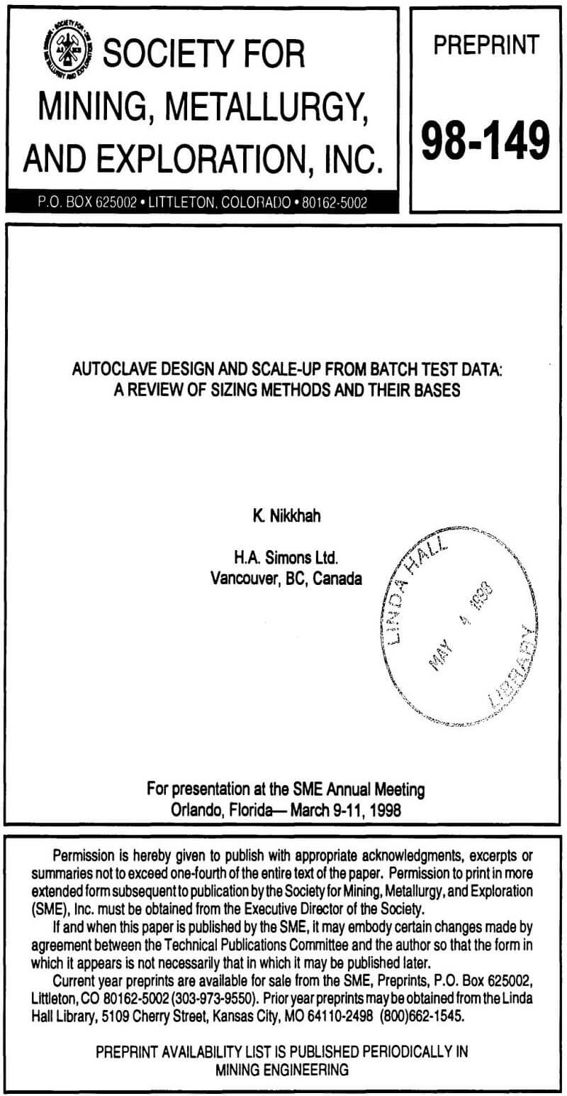 Autoclave Design And Scale Up