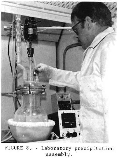 gold recovery laboratory precipitation assembly