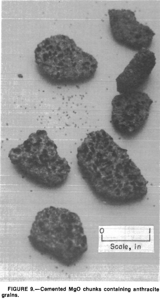 filtration cemented mgo chunks