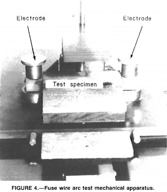 fuse wire arc test mechanical apparatus