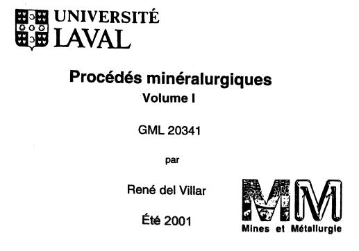procedes mineralurgiques
