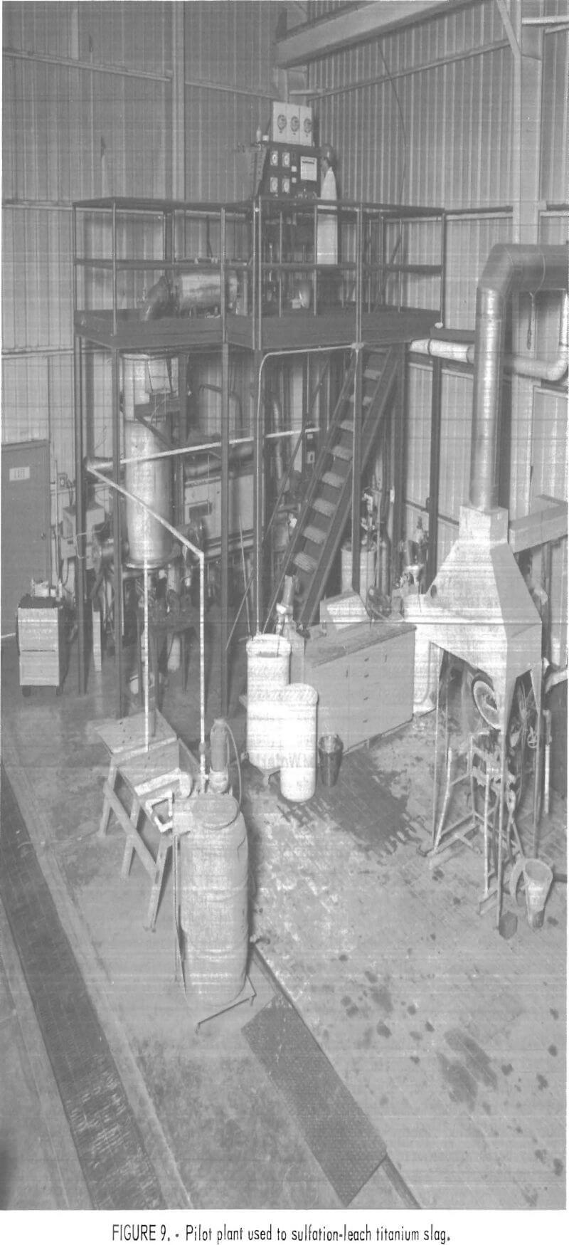 chlorination pilot plant used to sulfation-leach titanium slag
