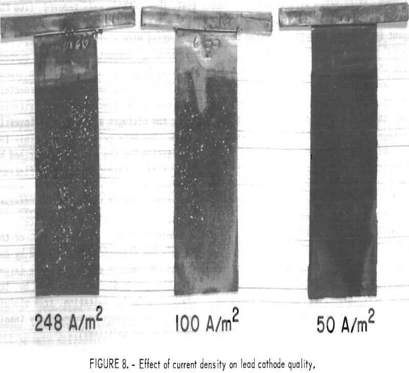 leach-solution lead cathode quality