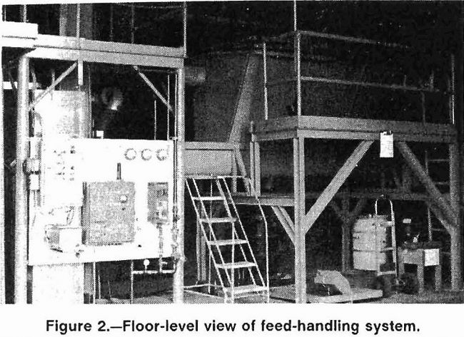 melting feed-handling system