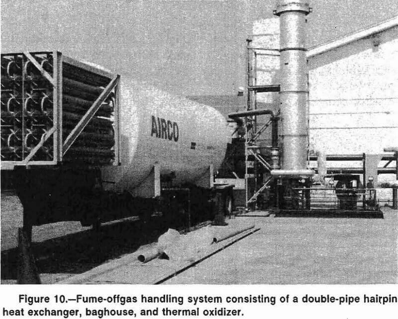melting fume offgas handling system