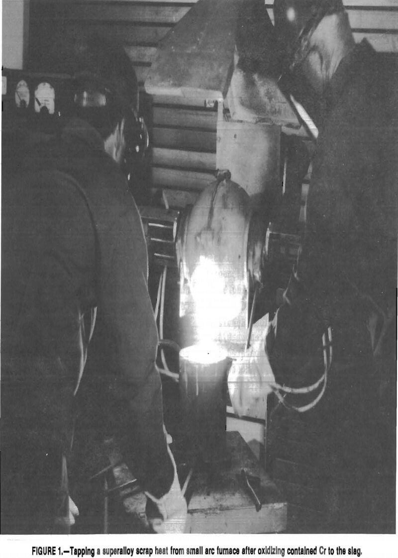 superalloy-scrap small arc furnace
