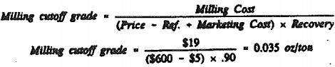 cutoff-grade-milling-cost