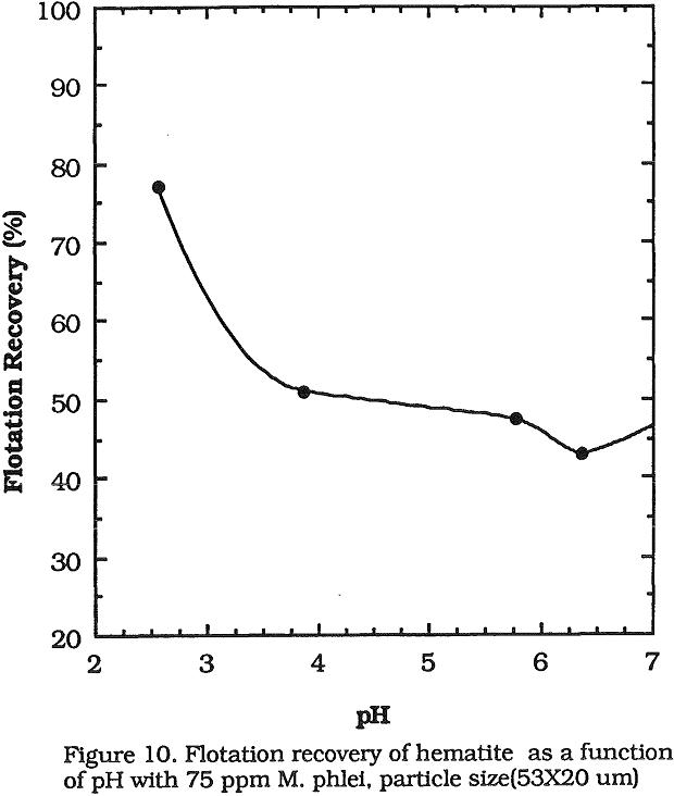 flotation recovery of hematite