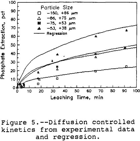 leaching-of-apatite diffusion controlled kinetics
